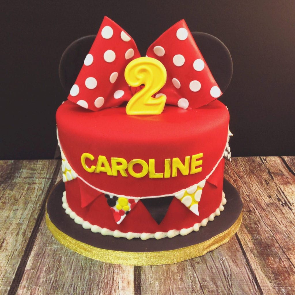 Red, Yellow & Black Minnie Mouse Cake