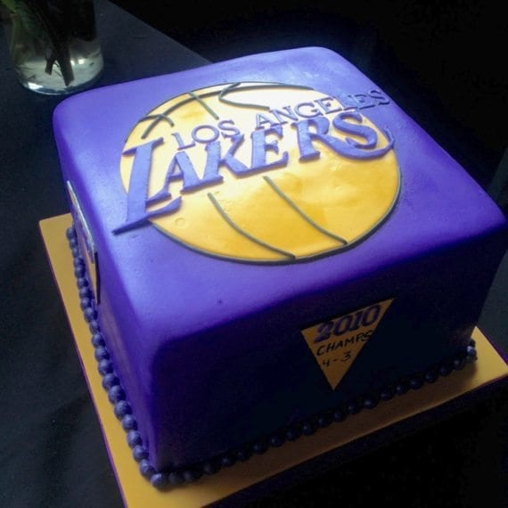 Lakers Groom's Cake