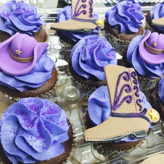 Purple Cowgirl Cupcakes