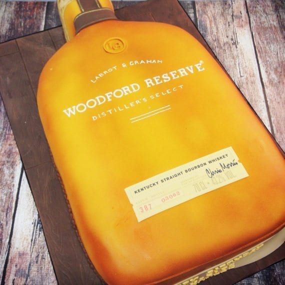 Woodford Reserve Whiskey Bottle Cake
