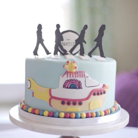Yellow Submarine Beatles Cake