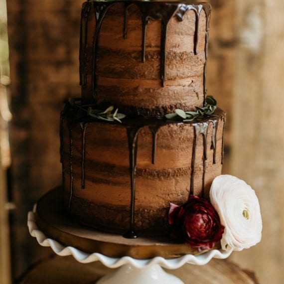 Chocolate Naked Cake & Chocolate Ganache