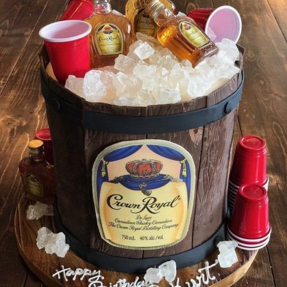Crown Royal Whiskey Barrel Cake