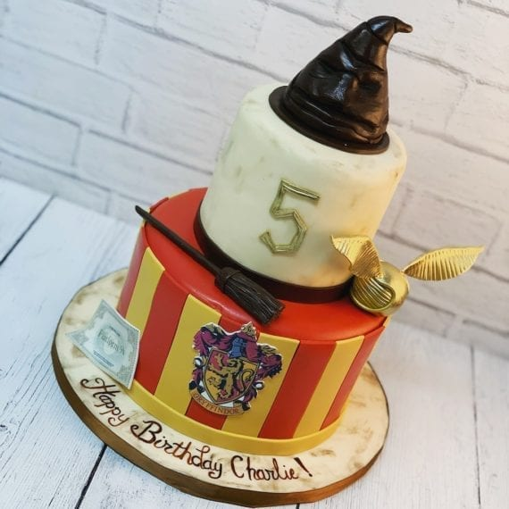 Harry Potter Cake with Sorting Hat