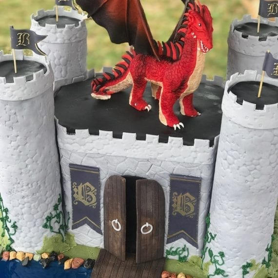3D Castle & Dragon
