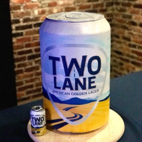 Two Lane by Luke Bryant Beer Can Cake