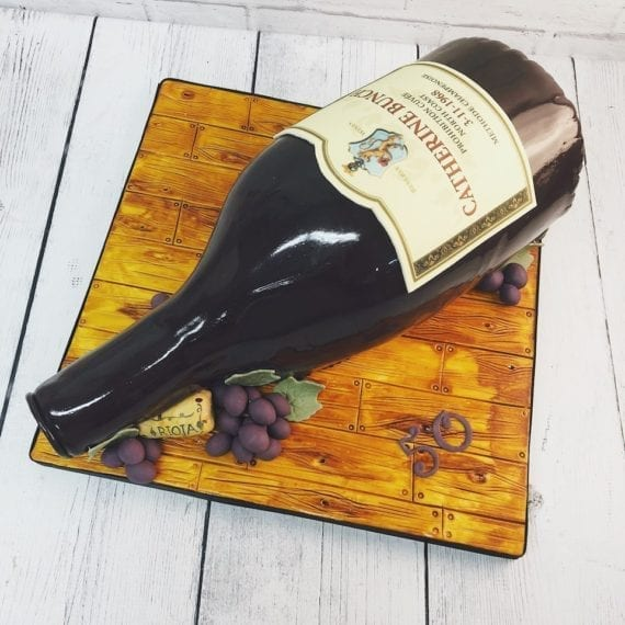 3D Wine Bottle Cake