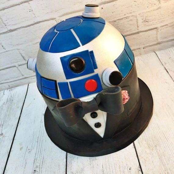 Star Wars R2D2 in a Tux Groom's Cake