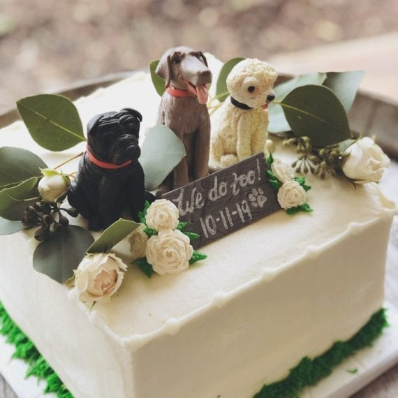Dogs Wedding & Groom's Cake