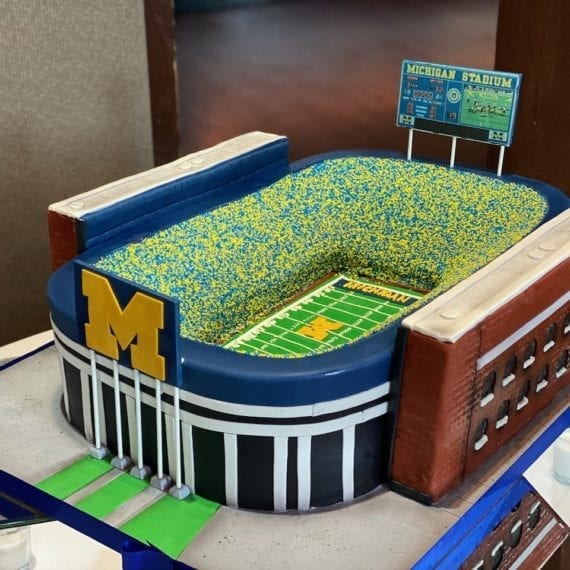 Michigan Stadium Cake