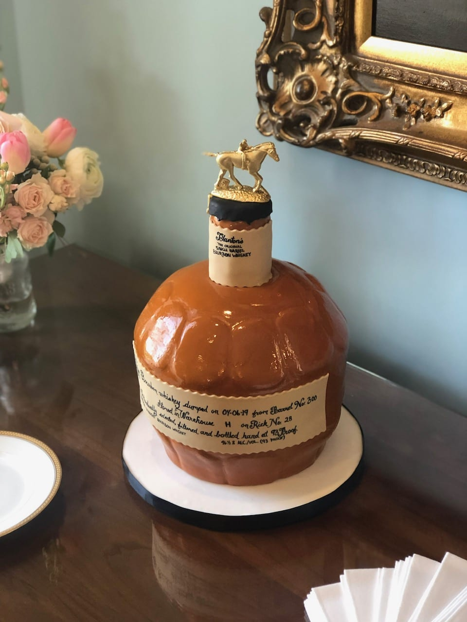 Blanton's Bourbon Bottle Cake