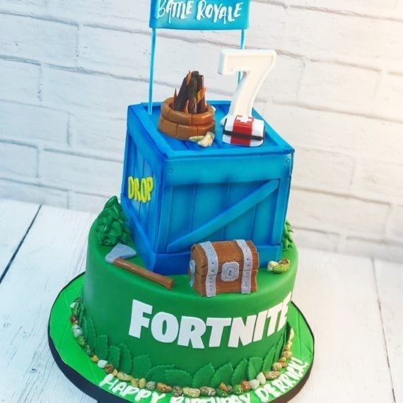 Two Tier Fortnite Birthday Cake