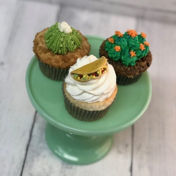 Succulent & Taco Cupcake Toppers