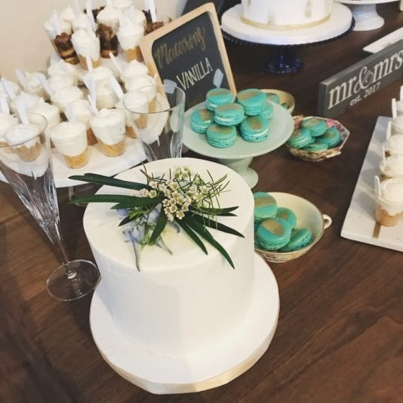 Dessert Bar with Buttercream Accent Cake