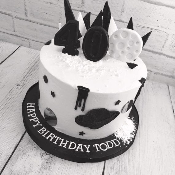 Black & White Space Cake