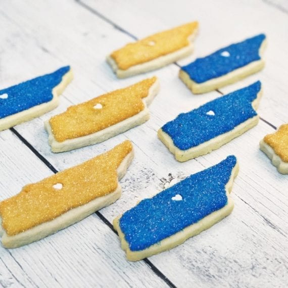 Blue & Gold Predators Colors Tennessee Sugar Cookies