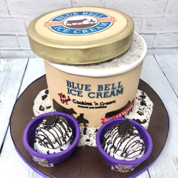 Ice Cream Carton Cake