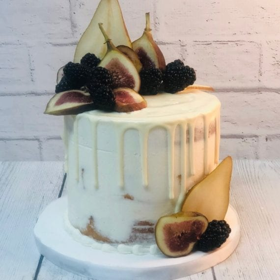 Naked Cake with White Chocolate Ganache & Fall Fruits