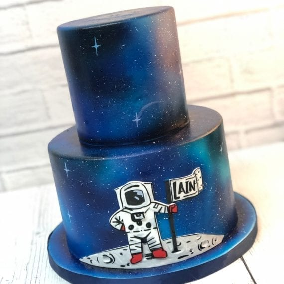 Astronaut Galaxy Space Cake