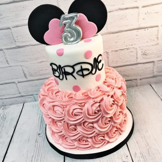 Minnie Mouse Buttercream Rosettes Birthday Cake