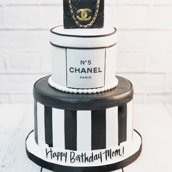 Black & White Chanel Cake