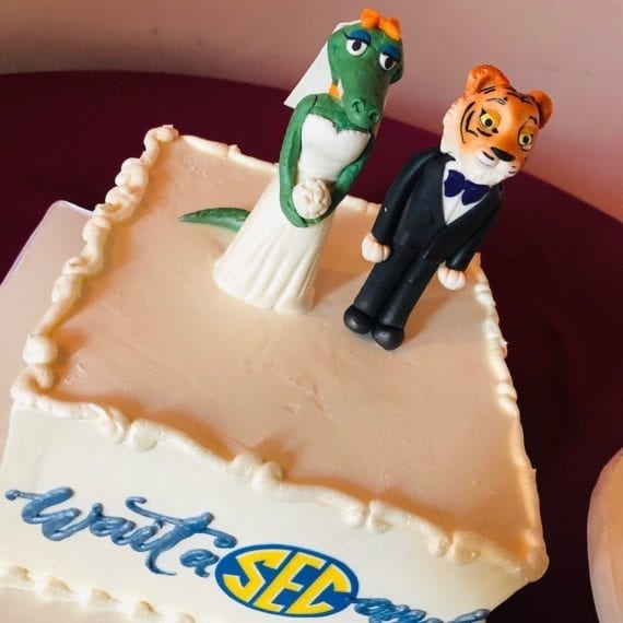 SEC Florida Gators & LSU Tigers Groom's Cake