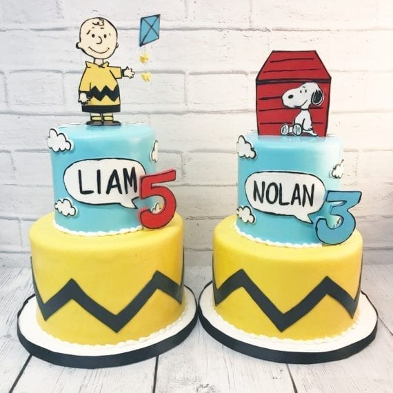 Charlie Brown & Snoopy Birthday Cakes