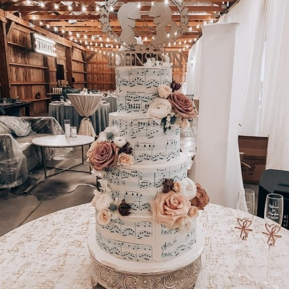Sheet Music Wedding Cake