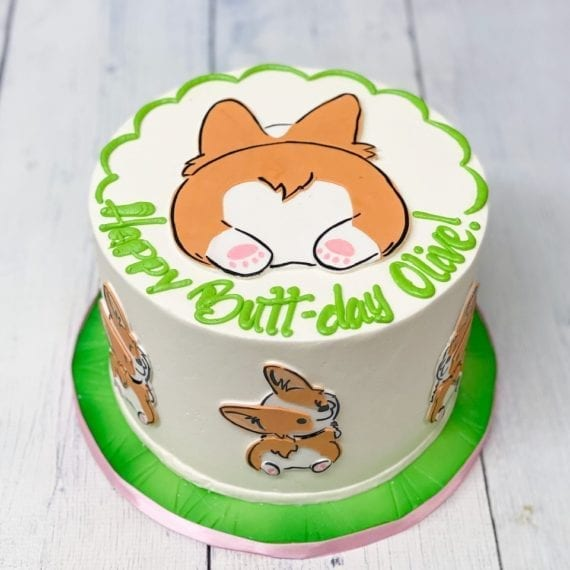 Corgi Birthday Cake